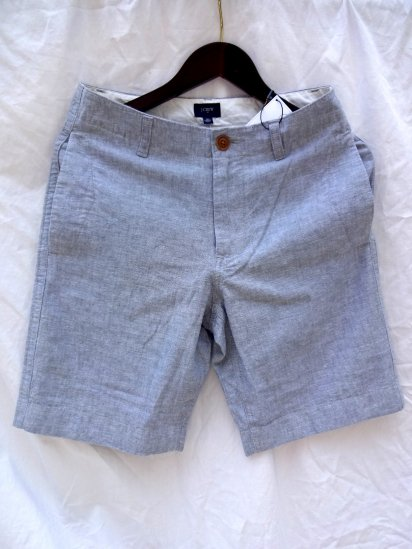 J.crew Cotton & Linen Shorts Natural