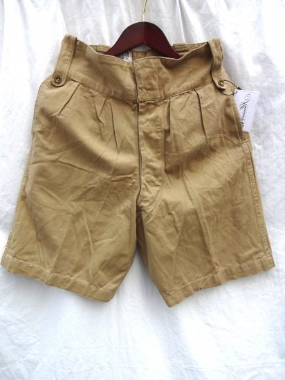60's Vintage British Army Khaki Drill Shorts/1