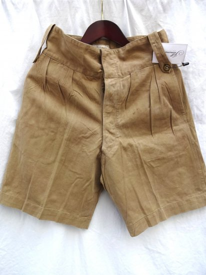 60's Vintage British Army Khaki Drill Shorts/2