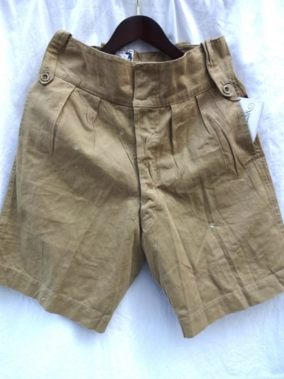 60's Vintage British Army Khaki Drill Shorts/3