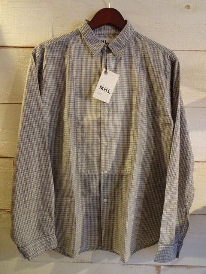 MHL by MARGARET HOWELL Check Shirts<BR>SALE!! 19,800 + Tax → 10,000 + Tax