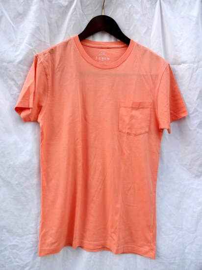 J.Crew Slim Fit Pocket Tee Peach Orange