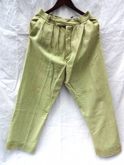 60's Vintage British Army Officer Private Purchase Khaki Drill Trousers