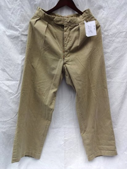 50's〜 Vintage British Army ?  Khaki Drill Trousers