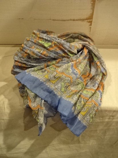 DRAKES LONDON for J.crew Paisley Scarf Made in Italyl<BR>SALE!! 19,800 → 10,000 + Tax
