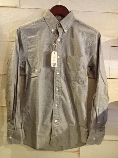 NEW ENGLAND SHIRT COMPANY Made in U.S.A Brushed Twill Gray<BR>SALE! 19,800 + Tax → 10,800 + Tax