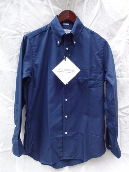 INDIVIDUALIZED SHIRTS Oxfored Shirts Standard Fit MADE IN U.S.A <BR>Navy