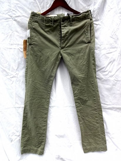 RRL Military Chino Pants Khaki Olive