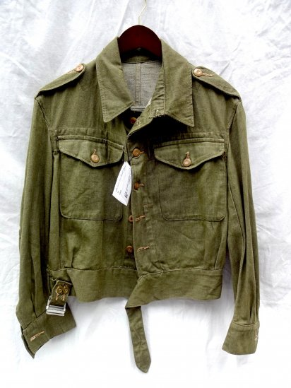 〜50's Vintage  British Army Battledress Uniform/ <br>Overall Denim Blouses