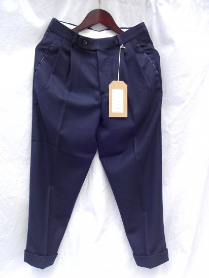 RICHFIELD Made in JAPAN Wool Trousers T-3 Navy