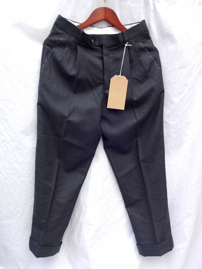 RICHFIELD Made in JAPAN Wool Trousers T-3 Charcoal