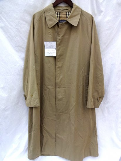 Vintage Burberrys 100% Cotton 1 Panel Sleeve Balmacaan Coat (Soutien Collar Coat) Made in  England/2