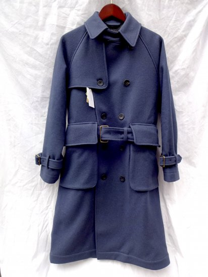 S.E.H KELLY Lancastrian Military Melton Trench Coat Made in England