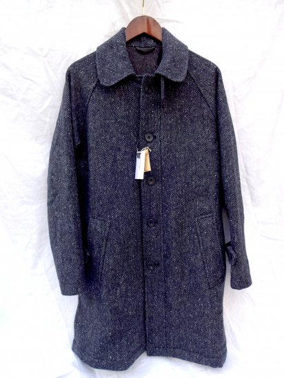 S.E.H KELLY Donegal Herringbone Balmacaan Coat Made in England