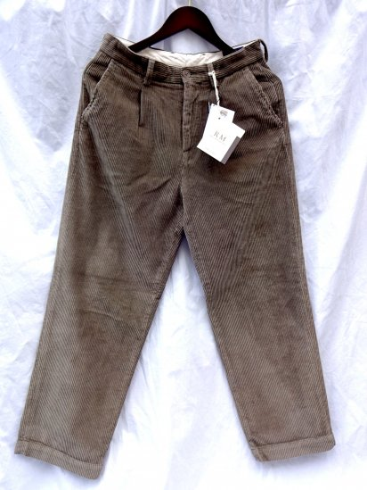 RICCARDO METHA Corduroy 1Tac Trousers Made in Italy Brown