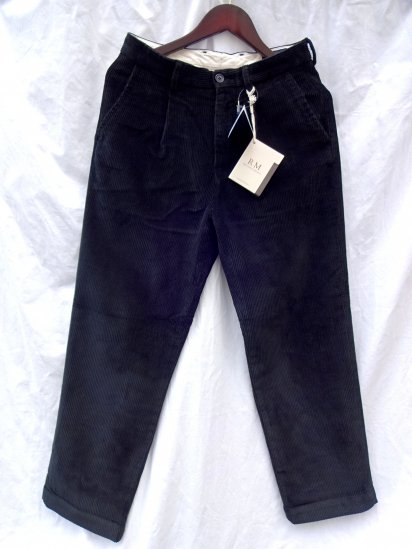 RICCARDO METHA Corduroy 1Tac Trousers Made in Italy Black