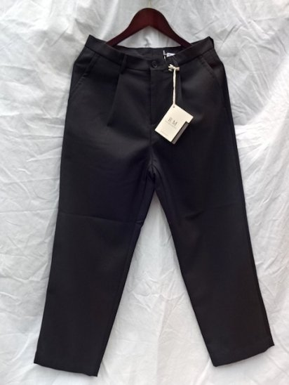 RICCARDO METHA Marzotto Fabric Wool 1Tac Trousers Made in Italy Black