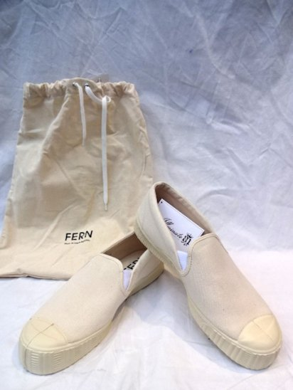 FERN Camvas ARMY SLIPPON Made in Czech Republic <BR>Natural