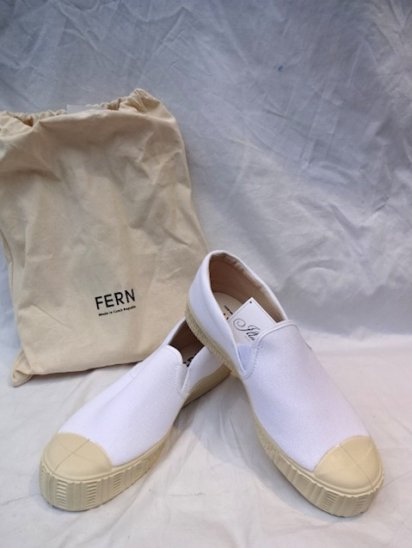 FERN Camvas ARMY SLIPPON Made in Czech Republic <BR>White