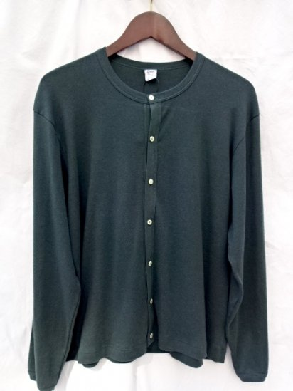 Gicipi Cotton x Cashmere Crew Neck Cardigan Made in Italy green