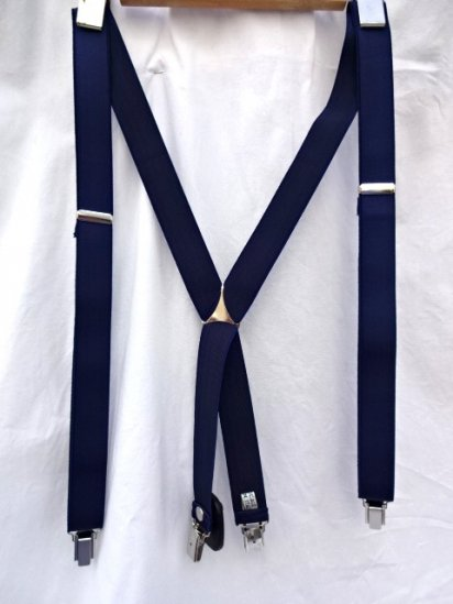 La Ducale Braces Made in Italy Navy