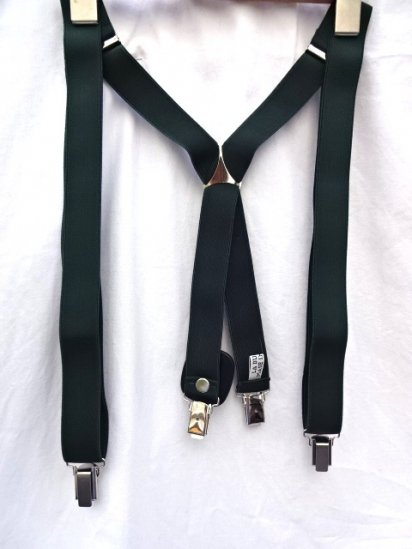 La Ducale Braces Made in Italy Green