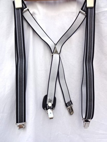 La Ducale Braces Made in Italy Black x White