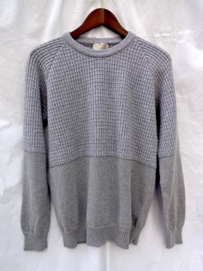 John Smedley Wool x Cashmere / Cotton Knit NATURAL PULLOVER Made in England