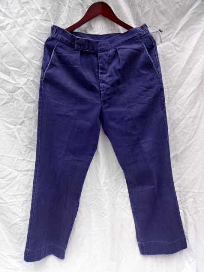 60〜70's Vintage Royal Navy Working Dress Trousers COTTON 100%