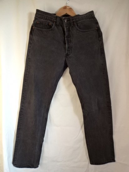 90's Old Levi's 501 Black Made in U.S.A / 7