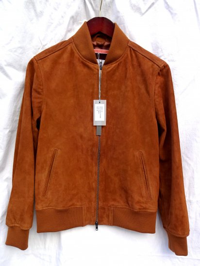 GELLI GOAT SKIN SUEDE BLOUSON MADE IN ITALY Whisky