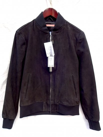GELLI GOAT SKIN SUEDE BLOUSON MADE IN ITALY Black