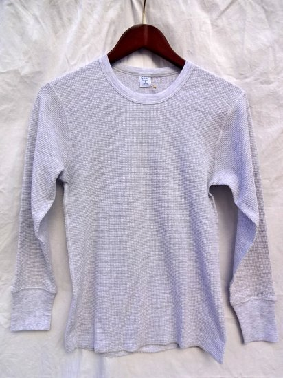 Gicipi Cotton Heavy Waffle Crew Neck L/T Made in ITALY/Light Gray