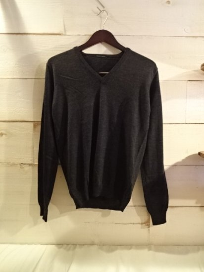 roberto collina Extra Fine Merino Wool Knit V-Neck Sweater Made in Italy<BR>SPECIAL PRICE 12,800+Tax