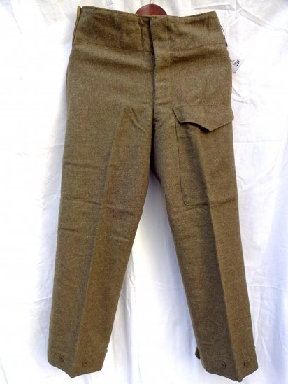 50's Vintage Dead Stock Canadian Army Wool Battle Dress Trousers