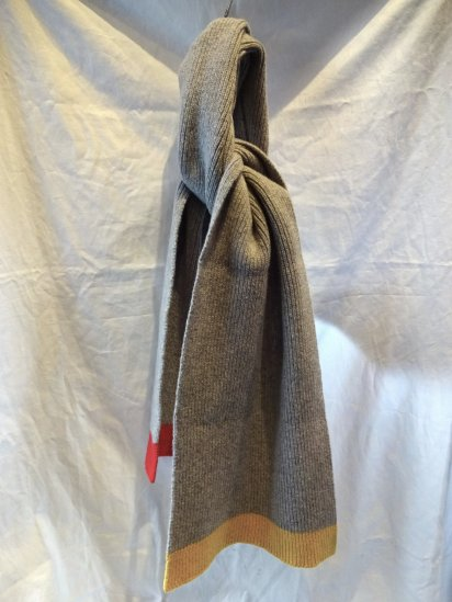 Country of Origin Colour Block Scarf Made in ENGLAND Grey / Yellow / Red