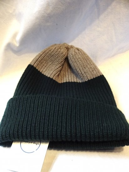 Country of Origin Rib Quarter Hat Made in ENGLAND Green x Mushroom