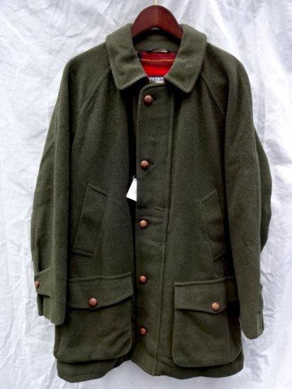 90's Vintage INVERTERE Wool Field Coat MADE IN ENGLAND