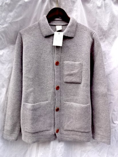 Country of Origin Knit Jacket Made in ENGLAND Gray