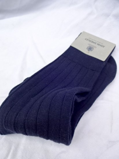 John Smedley Cotton Socks MADE IN England Navy