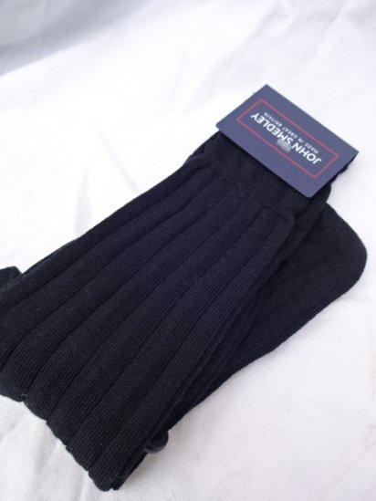 John Smedley Wool Socks MADE IN England Black