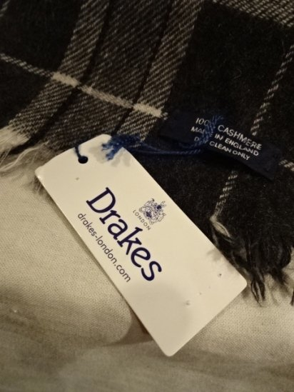 DRAKES 100% Cashmere Shawl Muffler Made in ENGLAND<BR>SALE!! 27,800 + Tax → 16,680 + Tax