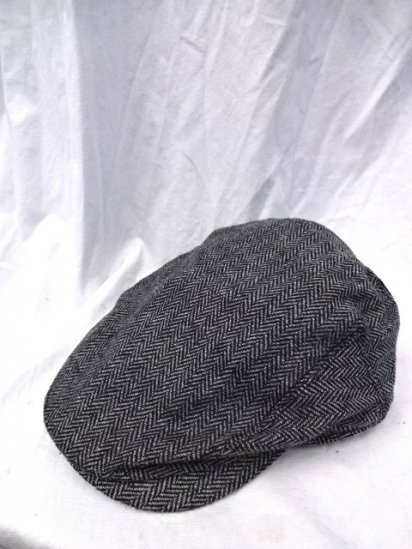 J.Crew Herringbone Tweed Hunting Cap Gray