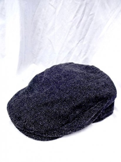 J.Crew Herringbone Tweed Hunting Cap Charcoal