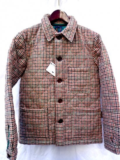 LAVENHAM Quilted  Houndtooth Tweed Jacket HOUND Made in England