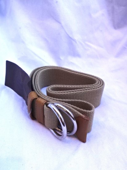 Church's Canvas Ring Belt Beige