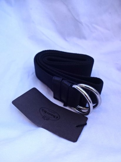Church's Canvas Ring Belt Black
