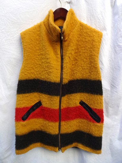 80's 〜 Vintage Griffin Products Wool Blanket Vest Made in Great Britain