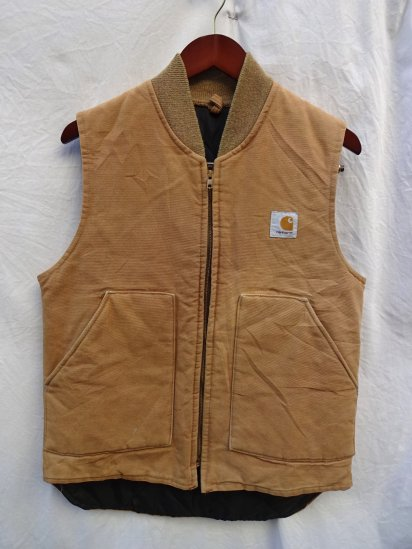 80's Vintage Carhartt Duck Poly Filled Vest Made in U.S.A
