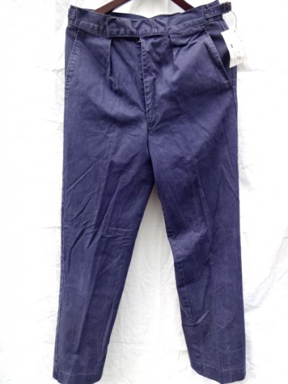 70 〜80's  Vintage Used Royal Navy Trousers Working Dress Blue/10